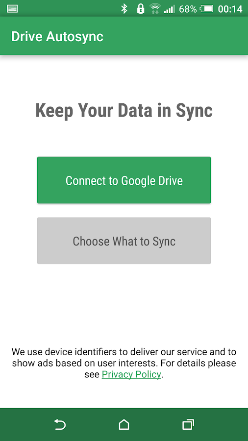 Autosync Google Drive- screenshot