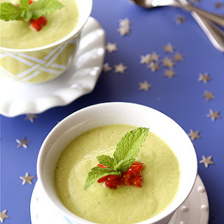 Chilled California Avocado Soup with Coconut Milk.