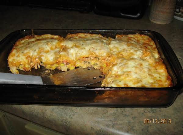 Yummy Tummy Spicey Chicken Mexican Casserole Recipe