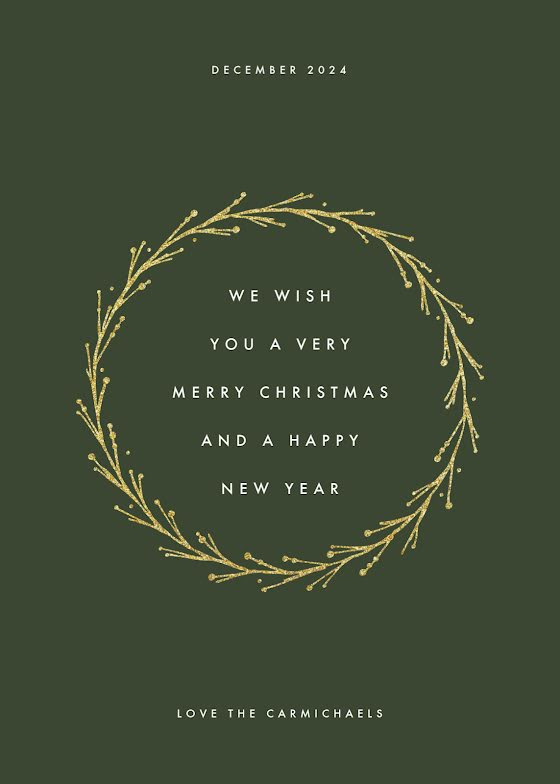A Very Merry Christmas - Christmas Card Template