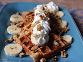 Banana Walnut Waffles Recipe
