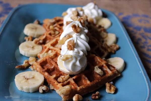 Banana Walnut Waffles