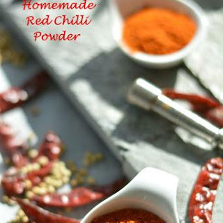 Homemade Red Chilli Powder.