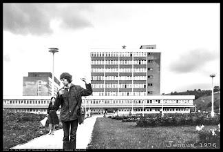 Photo: in front of Roosevelt Hospital in Banska Bystrica