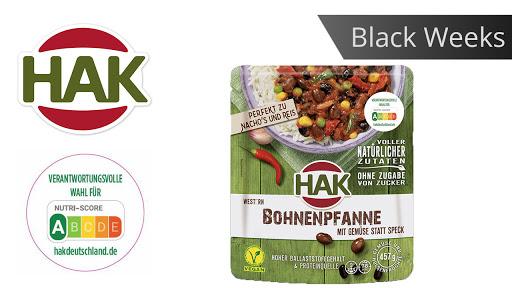 Bild für Cashback-Angebot: Black Weeks:                                                                   HAK Fertiggerichte Bohnenpfanne - Hak