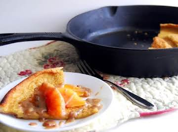 Southern Dutch Baby Skillet with Praline Sauce