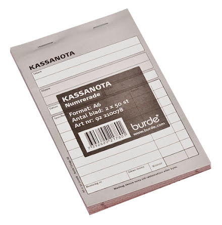 Kassanota 100x150 2x50 numrera