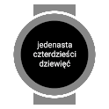 Polish Text Watch