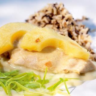 Lauch-Ananas-Hähnchen