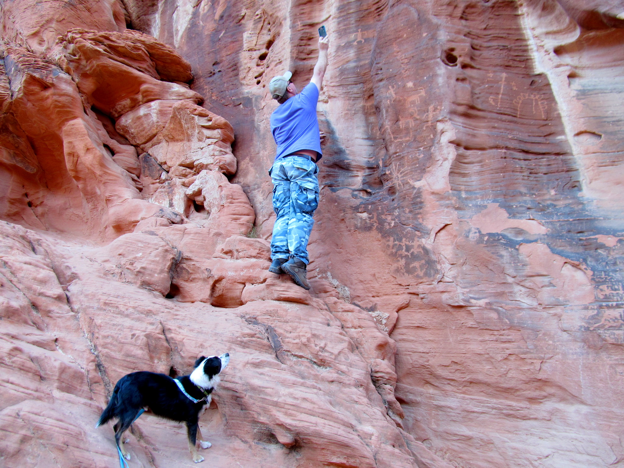 Photo: Bosley watching while Eric gets the shot