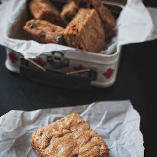 Maple Blondies with Chocolate and Butterscotch Chips