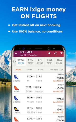 Flight & Hotel Booking App - ixigo 4.0.9.1 screenshots 3