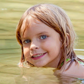 Girl in water by Nick Soefje - Babies & Children Child Portraits