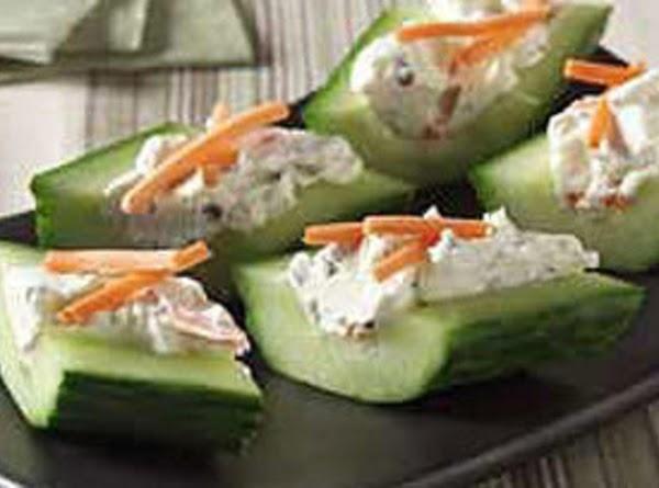 Creamy Cheese & Herb Cucumber Bites Recipe