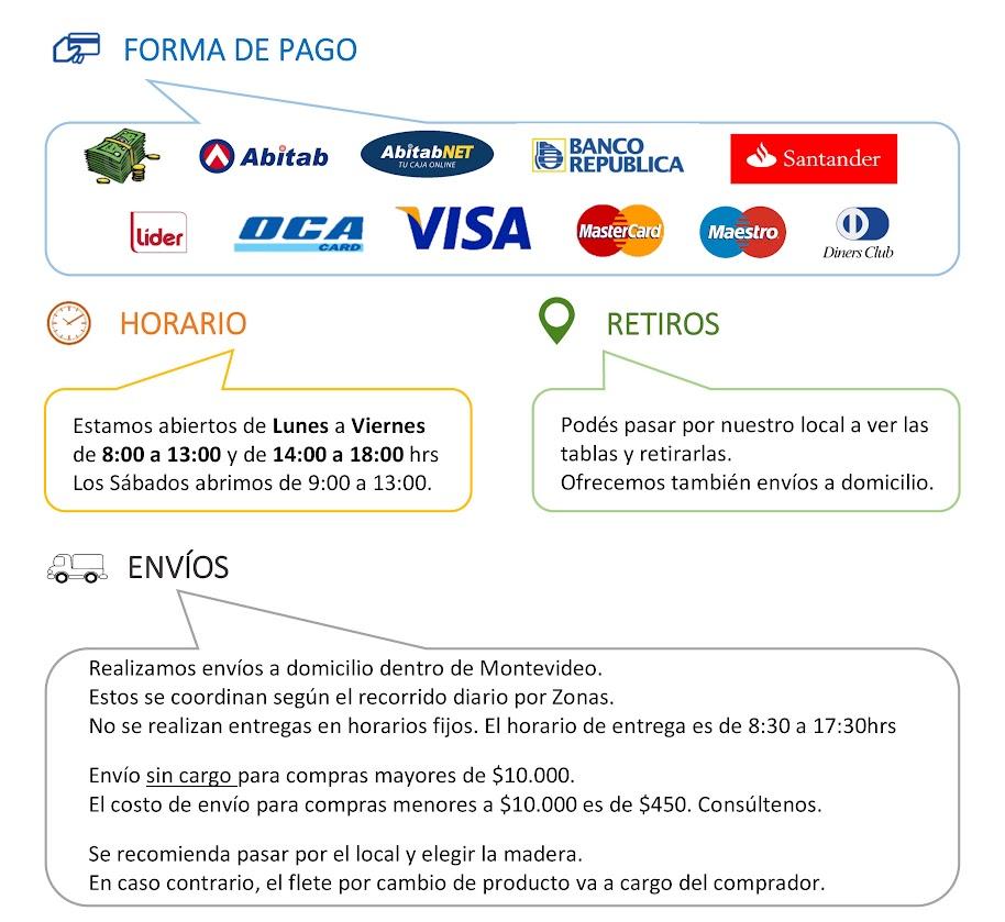 Envíos y Formas de pago