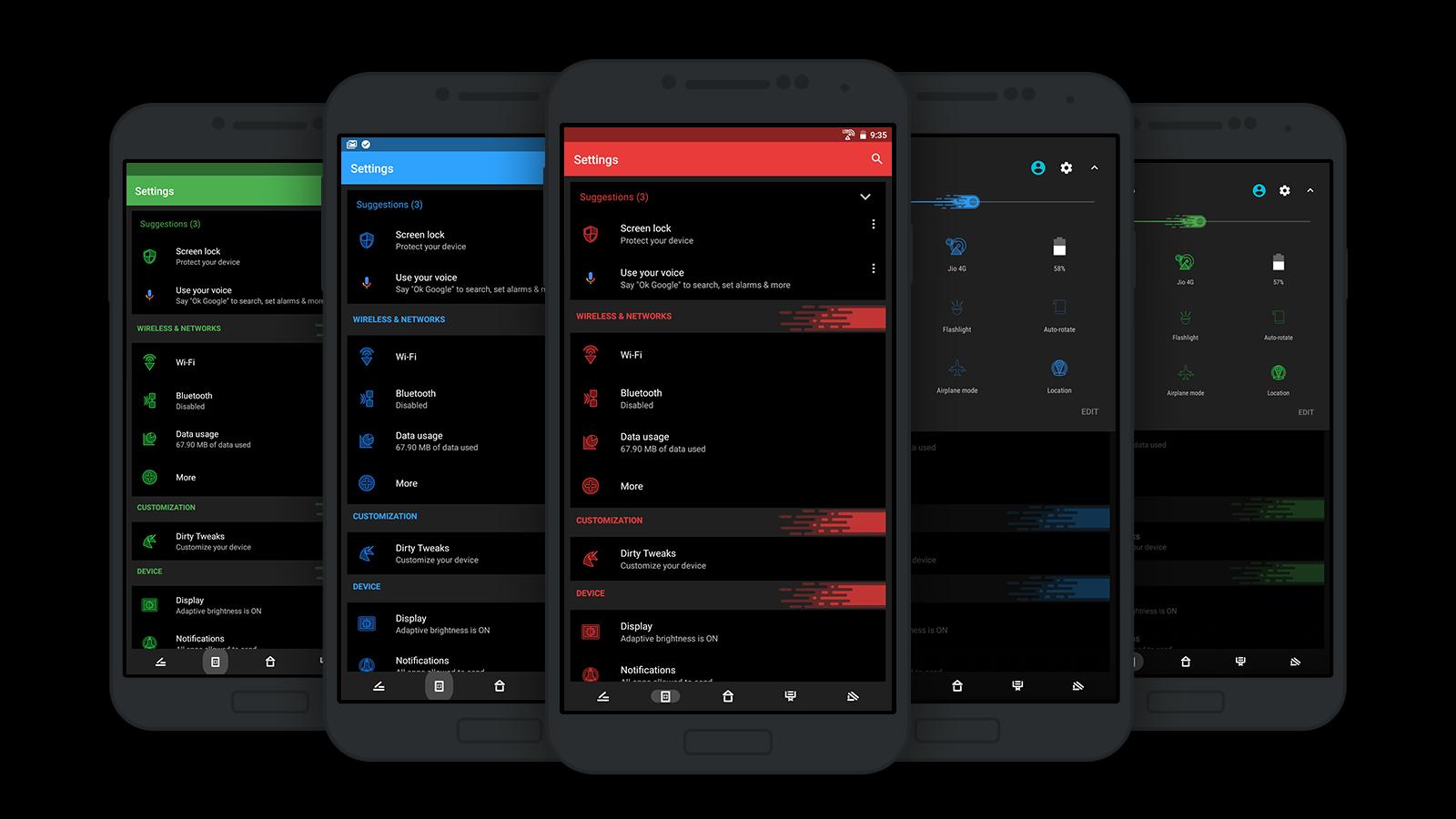 Gmail theme disabled -  Substratum Dark Matter Theme Screenshot