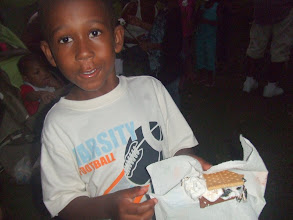 Photo: Nate shows off his smore