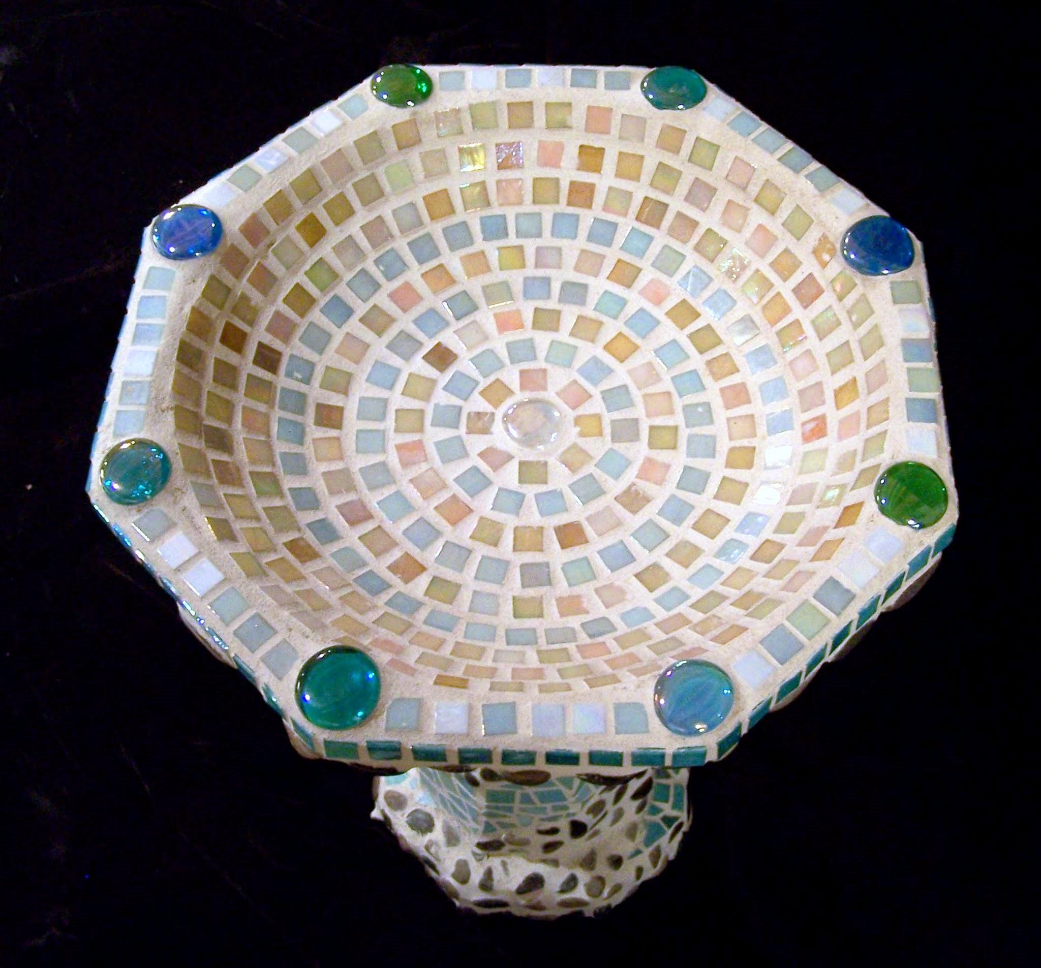 Peace & Serenity Mosaic Birdbath