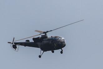 Photo: The military Alloutte chopper arriving in Luando; O helicóptero Alloette da Força Aérea Nacional chegando ao Luando.