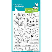 Lawn Fawn Clear Stamps 4X6 - Cheery Christmas