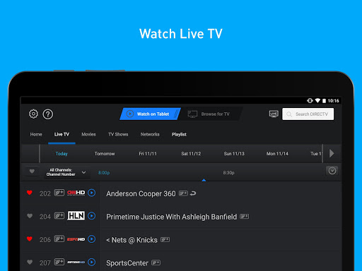 DIRECTV for Tablets 5.8.005 screenshots 2