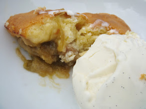 Photo: Desert, Eve's pudding, though made with our rhubarb instead of apples