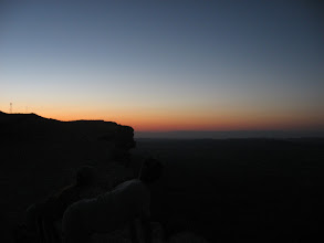 Photo: Almost sunrise over the crater about 5am