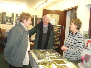 Photo: Edmund and Pauline talk to Val