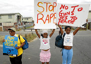 Parents and children in Hanover Park, Cape Town,  protesting against violence and the abuse of women and children in their community.  /Esa Alexander