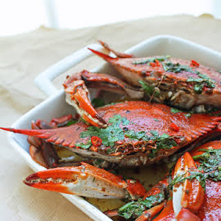 Blue Crabs w/ Chipotle & Lime Brown Butter Sauce.