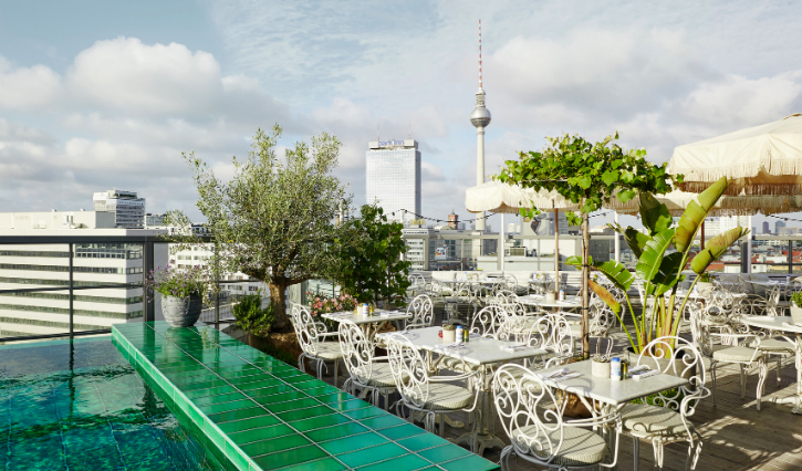 Rooftop at Soho House, Berlin.