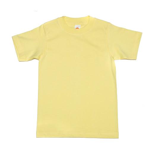 franela amarilla cuello redondo talla 6