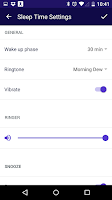 Screenshot of Sleep Time Smart Alarm Clock