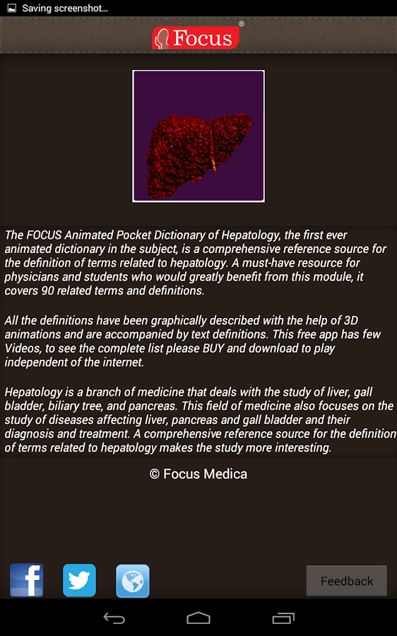 Hepatology - Medical Dict.- screenshot