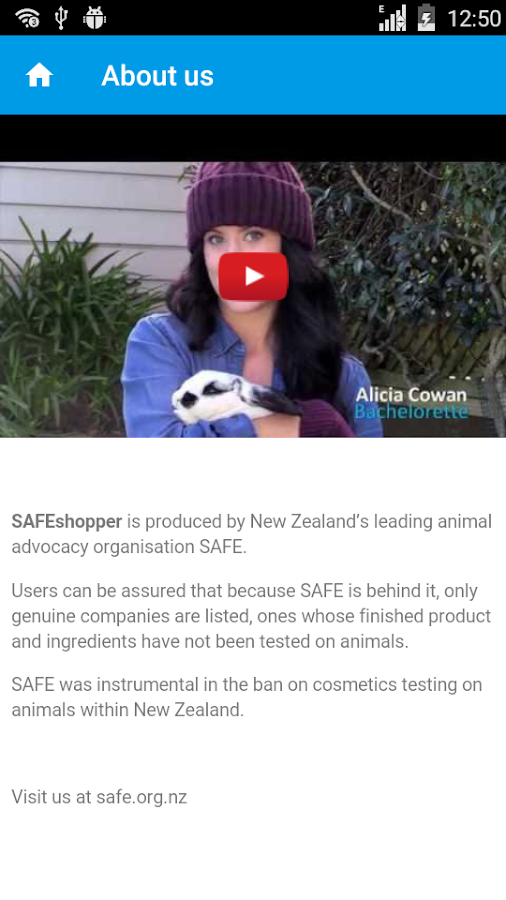 SAFEshopper Cruelty-free NZ- screenshot