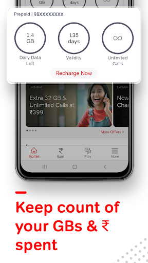 Airtel Thanks - Recharge, Bill Pay, Bank, Live TV android2mod screenshots 6