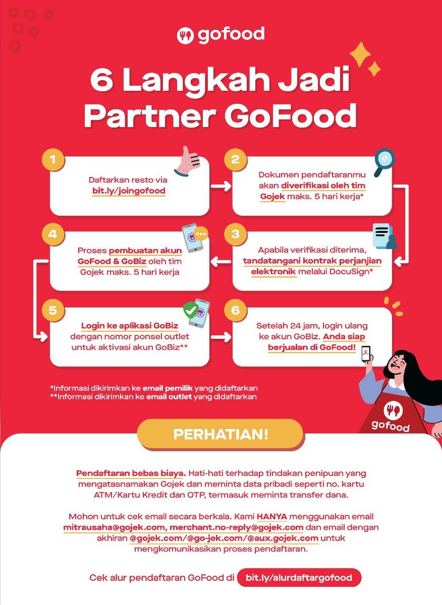 Cara Pendaftaran Gofood