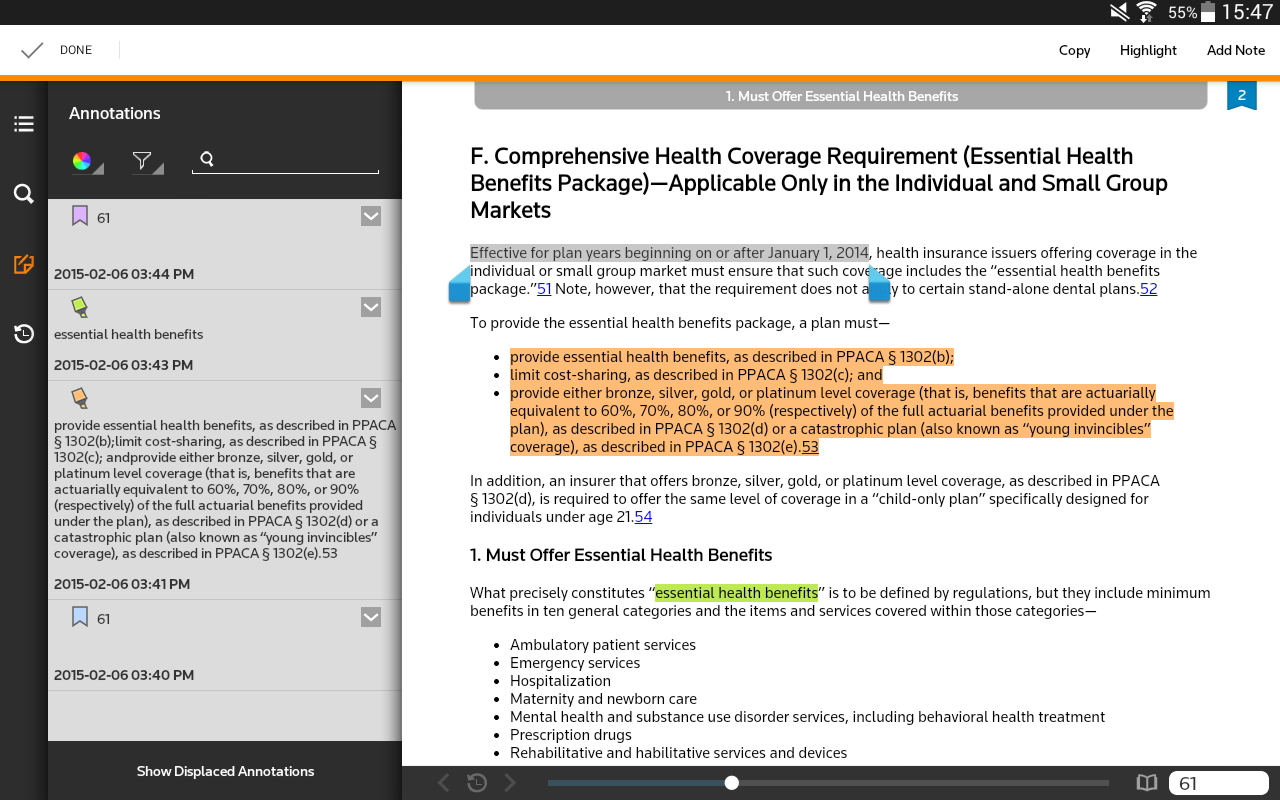 Thomson Reuters ProView- screenshot