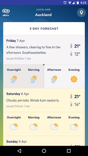 MetService NZ Weather screenshot