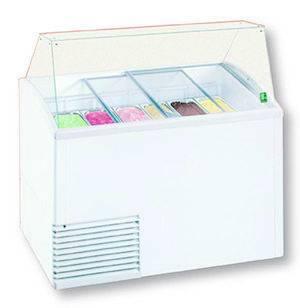Schepijs vitrines SLANT ICE LUX SCHEPIJSVITRINE VOOR 10 X 5L BAKKEN - RESERVE VOOR 12 BAKKEN