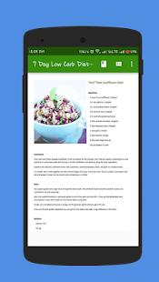 7 Day Low Carb Diet Plan 🍒 Screenshot