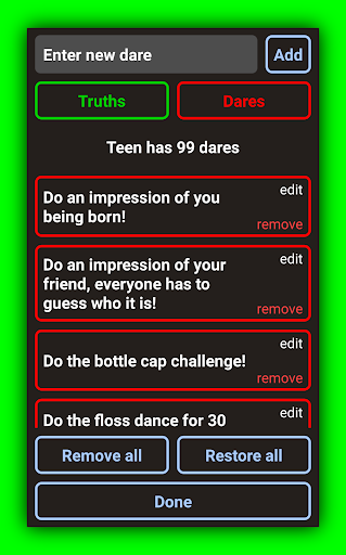 Truth Or Dare - 2020 ULTIMATE Party Game 9.6.2 screenshots 6