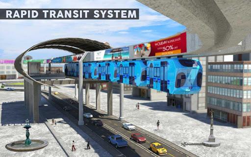 Elevated Train Driving Simulator: Sky Tram Driver apktram screenshots 9