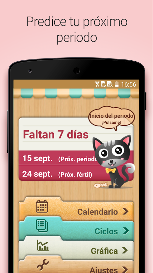 Calendario Menstrual: captura de pantalla