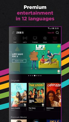 ZEE5 - Movies, TV Shows, LIVE TV & Originals APK v  11 2 108