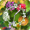 Flower Parade Clock widget