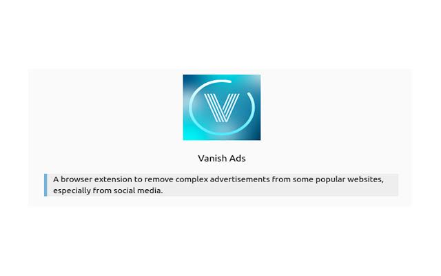 Vanish Ads
