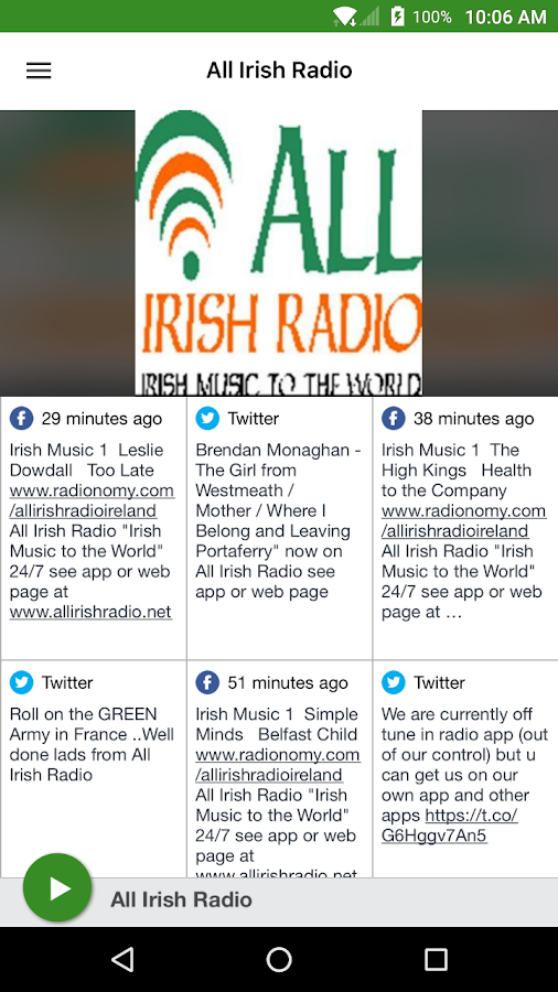 All Irish Radio- screenshot