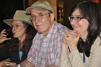 Photo: Carolyne Wright, James Parrott, and Elizabeth Carroll Hayden.