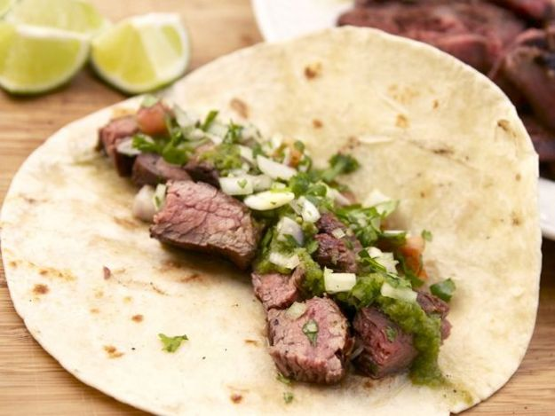 Grilled Marinated Flank Steak Fajitas Recept | Yummly